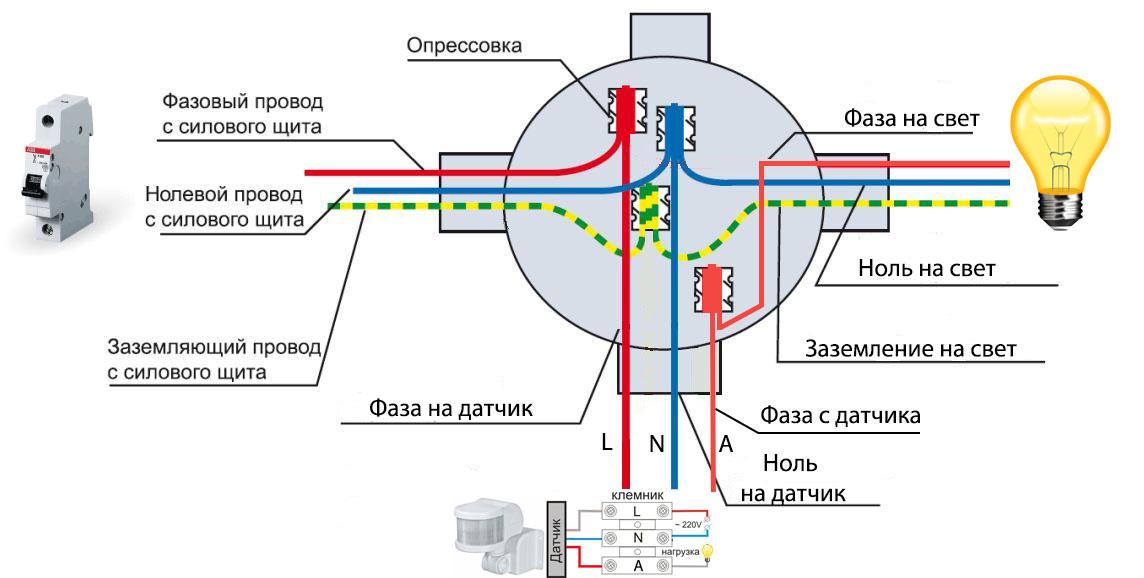 Датчик движения: схемы подключения, виды, настройка и тестирование